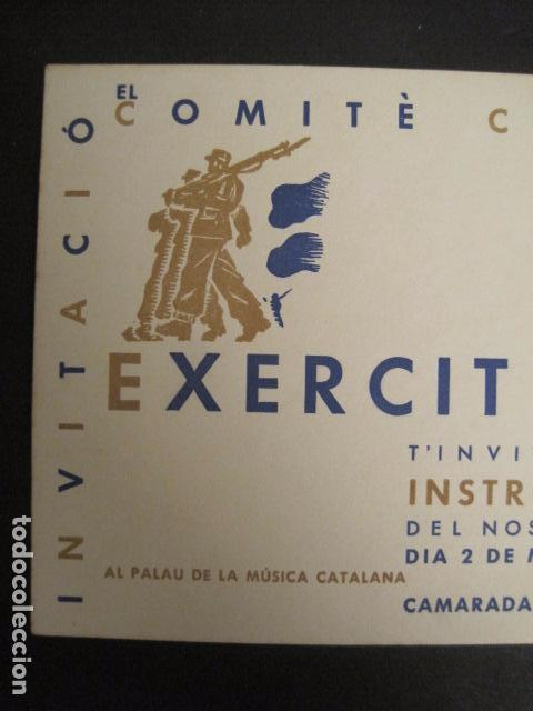 Militaria: GUERRA CIVIL-INVITACIO COMITE CATALA PRO EXERCIT POPULAR-1937-PALAU DE LA MUSICA-VER FOTOS-(V- 9517) - Foto 3 - 78639253