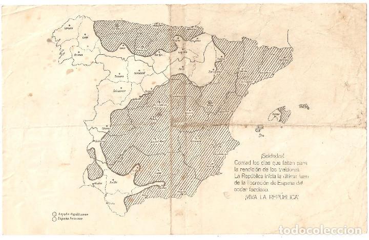 Mapa Bandos Guerra Civil Española.Propaganda Al Inicio De La Guerra Civil Con El Vendido En