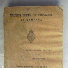 Militaria: 1937 GUERRA CIVIL REGLAMENTO TACTICO DE INFANTERIA TOMOS I Y II. Lote 80174273