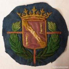 Militaria: GUARDIA DEL GENERALÍSIMO FRANCO, ESCUDO RECORTADO DE LA MANTILLA. COLOR AZUL.. Lote 77620295