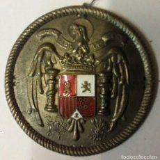 Militaria: GUARDIA DE LA CASA DEL GENERALÍSIMO FRANCO. CHAPA DE LA BOINA BLANCA, PLATEADA.. Lote 77622419