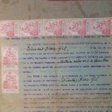 Militaria: GUERRA CIVIL. TÍTULO DE AUXILIAR DOCENTE. OCAÑA TOLEDO. 1938. Lote 81197596