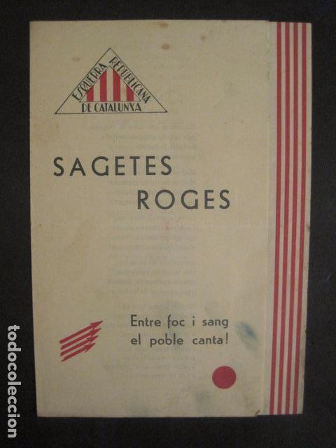 SAGETES ROGES-ENTRE FOC I SANG-MADRID GIMENO NAVARRO -ESQUERRA REPUBLICANA-GUERRA CIVIL-(V-10.353) (Militar - Guerra Civil Española)