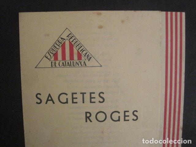 Militaria: SAGETES ROGES-ENTRE FOC I SANG-MADRID GIMENO NAVARRO -ESQUERRA REPUBLICANA-GUERRA CIVIL-(V-10.353) - Foto 2 - 82308396