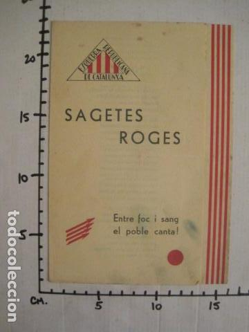 Militaria: SAGETES ROGES-ENTRE FOC I SANG-MADRID GIMENO NAVARRO -ESQUERRA REPUBLICANA-GUERRA CIVIL-(V-10.353) - Foto 8 - 82308396