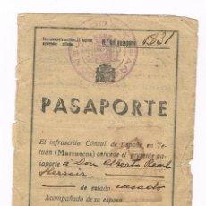 Militaria: MARRUECOS 1938 PASAPORTE GUERRA CIVIL. Lote 83901096