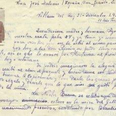 Militaria: CARTA MILITAR,(1937).. Lote 88859924