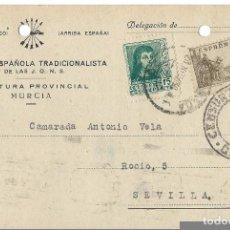 Militaria: TARJETA,CENSURA MILITAR.(GRANADA 1938).. Lote 89090204