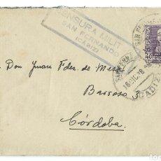 Militaria: SOBRE DE CENSURA MILITAR,(1938).. Lote 89698648