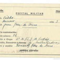 Militaria: POSTAL MILITAR, CENSURA.(1938).. Lote 89699712