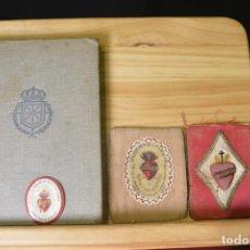 Militaria: CARLISMO. LIBRO CARLOS VII 1940. PUNTAS DE ESTOLA PRINCIPIO DEL SIGLO XX. DETENTE BALA ACTUAL. Lote 93260680