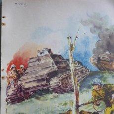 Militaria: AROZTEGUI. LAMINA GUERRA CIVIL ESPAÑOLA. ARTICULO ORIGINAL DE REVISTA AÑO 1937. Lote 96457219