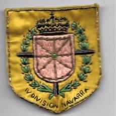 Militaria: PARCHE IV DIVISIÓN DE NAVARRA. ORIGINAL.. Lote 97336019