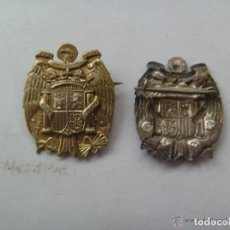 Militaria: GUERRA CIVIL : EMBLEMA PATRIOTICO DEL ESCUDO NACIONAL CON AGUILA IMPERIAL . PLATA. Lote 156784317