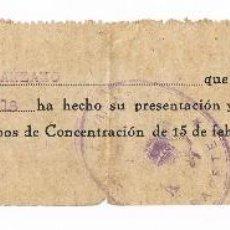 Militaria: GUERRA CIVIL ALBACETE CAMPO DE CONCENTRACION. Lote 98547867