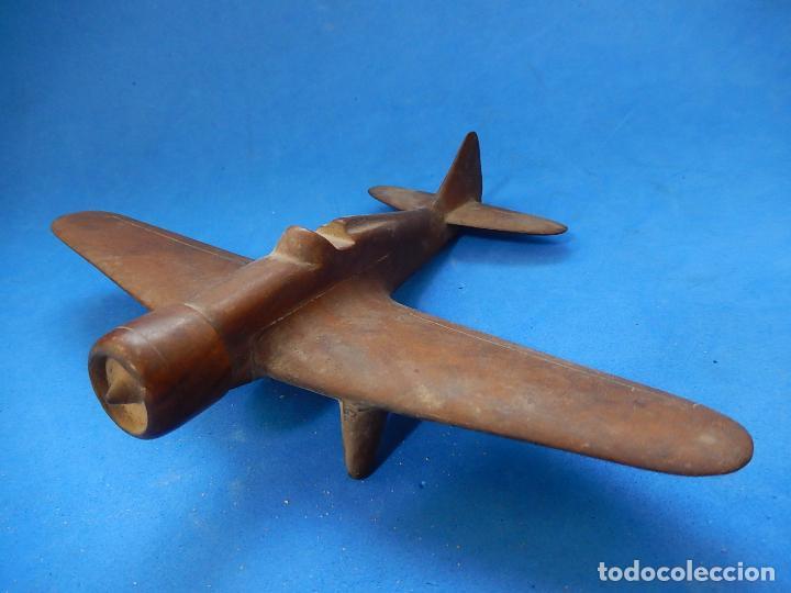 Militaria: Antiguo modelo / maqueta avión. Italiano. ¿ Fiat G.50, de finales de la Guerra Civil Española? - Foto 3 - 98644379