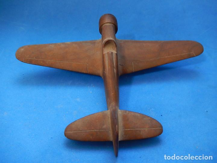 Militaria: Antiguo modelo / maqueta avión. Italiano. ¿ Fiat G.50, de finales de la Guerra Civil Española? - Foto 4 - 98644379