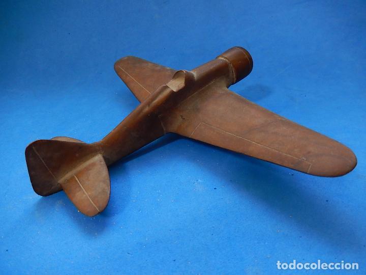 Militaria: Antiguo modelo / maqueta avión. Italiano. ¿ Fiat G.50, de finales de la Guerra Civil Española? - Foto 5 - 98644379