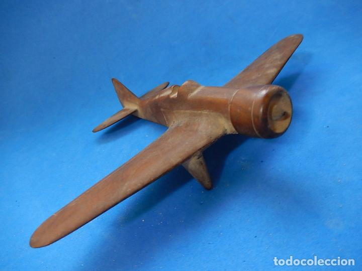 Militaria: Antiguo modelo / maqueta avión. Italiano. ¿ Fiat G.50, de finales de la Guerra Civil Española? - Foto 6 - 98644379