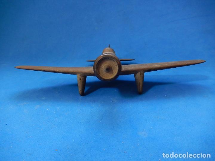 Militaria: Antiguo modelo / maqueta avión. Italiano. ¿ Fiat G.50, de finales de la Guerra Civil Española? - Foto 7 - 98644379