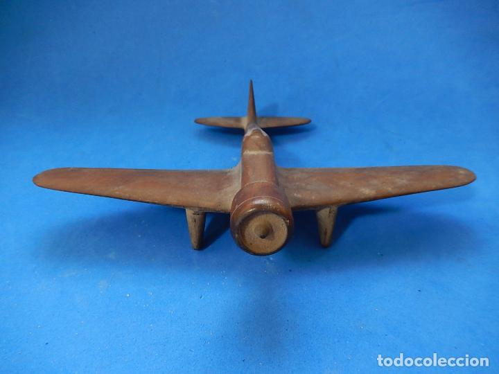 Militaria: Antiguo modelo / maqueta avión. Italiano. ¿ Fiat G.50, de finales de la Guerra Civil Española? - Foto 8 - 98644379