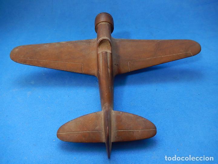 Militaria: Antiguo modelo / maqueta avión. Italiano. ¿ Fiat G.50, de finales de la Guerra Civil Española? - Foto 9 - 98644379