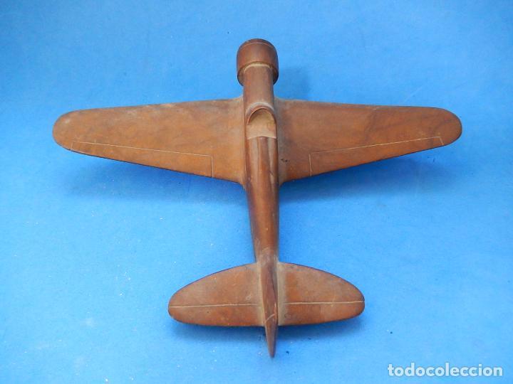 Militaria: Antiguo modelo / maqueta avión. Italiano. ¿ Fiat G.50, de finales de la Guerra Civil Española? - Foto 11 - 98644379