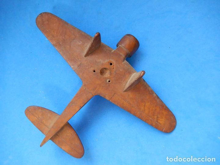 Militaria: Antiguo modelo / maqueta avión. Italiano. ¿ Fiat G.50, de finales de la Guerra Civil Española? - Foto 14 - 98644379