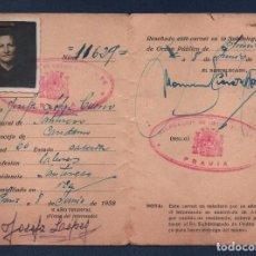 Militaria: ASTURIAS, CARNET DE ORDEN PUBLICO, VER FOTOS. Lote 98674747