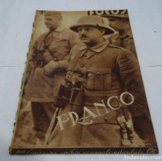 Militaria: ANTIGUA REVISTA DE FOTOS -3 SEPTIEMBRE 1938- FRANCO ANTE EL TRIUNFO- PLENA GUERRA CIVIL ESPAÑOLA. Lote 101463867