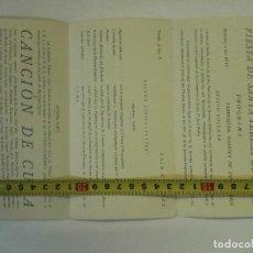 Militaria: PROGRAMA DE LAS FIESTAS DE LA PATRONA, SANTA TERESA DE JESÚS DE 1939-10-15 EN MATARÓ. Lote 101498047