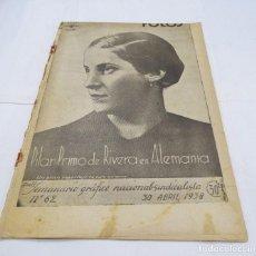 Militaria: ANTIGUA REVISTA FOTOS- PLENA GUERRA CIVIL ESPAÑOLA - 30 ABRIL 1938-REPORTAJES DEL FRENTE-. Lote 101615071