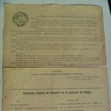 Militaria: GUERRA CIVIL : PASQUIN DE ASOCIACION MAESTROS CATOLICOS DE BURGOS, 1937. Lote 218938933