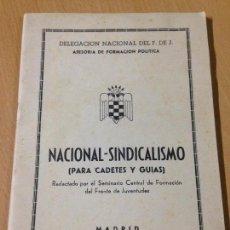 Militaria: FORMACION POLÍTICA FRANQUISMO FALANGE ESPAÑOLA NACIONAL SINDICALISMO FRENTE JUVENTUDES MADRID 1948. Lote 103042179