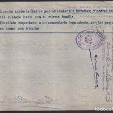 Militaria: MALAGA, -CUANDO ACABE LA GUERRA PODRAS CONTAR TUS AZAÑAS......... MARZO 1939, VER FOTO. Lote 103561791