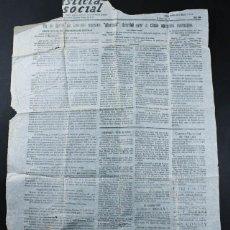 Militaria: PAGINA DEL PERIODICO JUSTICIA SOCIAL, UGT MAHON 18.ENERO1938 Nº 456, GUERRA CIVIL, MUY RARO HOJA. Lote 103617323