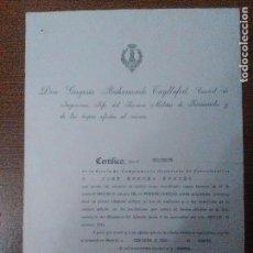 Militaria: JEFE SERVICIO MILITAR DE FERROCARRILES Y DE LAS TROPAS, GREGORIO BAHAMONDE TAYLLAFERT, VER FOTO. Lote 103673291