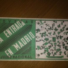 Militaria: LA ENTRADA EN MADRID, JUEGO NACIONAL, REGULARES-F.E.T.J.O.N.S.- TERCIO-INFANTERIA, MIDE: 33 X 18 C.M. Lote 103674719