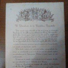 Militaria: PRESIDENTE DE LA REPUBLICA ESPAÑOLA, NICETO ALCALA ZAMORA, FIRMA: ORIGINAL, AÑO 1934, VER FOTOS. Lote 103676087
