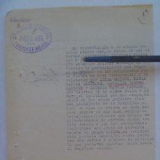 Militaria: GUERRA CIVIL : INFORME GUARDIA CIVIL DE INDIVIDUO SOSPECHOSO POR VECINOS MISMA CALAÑA. MALAGA, 1939. Lote 103811191
