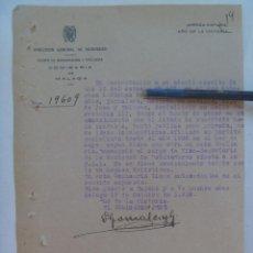 Militaria: GUERRA CIVIL : INFORME D. G. SEGURIDAD DE INDIVIDUO SOSPECHOSO IZQUIERDISTA. MALAGA, 1939. Lote 103823311