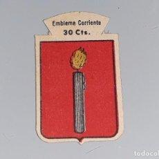 Militaria: ANTIGUO EMBLEMA AUXILIO SOCIAL - BERNALES - SERIE B Nº 55 - AÑOS 40 30 CTS . Lote 104355963