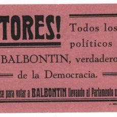 Militaria: SEVILLA, CANDIDATURA DE BALBONTIN, REPUBLICANA REVOLUCIONARIA, JUNTO A RAMON FRANCO ,BLAS INFANTE.... Lote 104543331