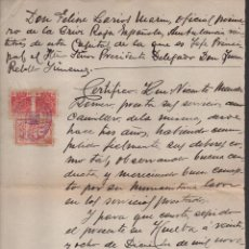 Militaria: CRUZ ROJA ESPAÑOLA, HUELVA, OFICIAL PRIMERO DE AMBULANCIA Nº 23. DICIEMBRE 1936, VER FOTO. Lote 105647079