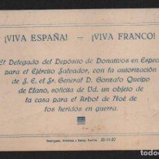 Militaria: SEVILLA, DONATIVOS EN ESPECIES, ARBOL DE NOE, HERIDOS DE GURRA,MIDE: 12X8 C.M. VER FOTO. Lote 106628983