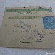 Militaria: SOBRE Y CARTA - JULIO 1938 - CENSURA MILITAR DE SAGUNTO - GUERRA CIVIL. Lote 107832031