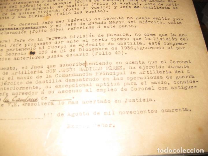 Militaria: recompensas ascensos por servicios en guerra civil coronel jesus badillo batalla brunete de teruel - Foto 3 - 108007707