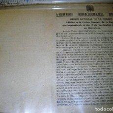 Militaria: CUERPO EJERCITO DE URGELL EXPEDIENTE RECOMPENSA CRUZ LAUREADA FCO ALCOCER FALLECIDO EN SOMOSIERRA. Lote 108009531