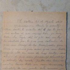 Militaria: GUERRA CIVIL ,CARTA ALICANTE A ALCOY 1938. Lote 109171134