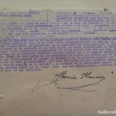 Militaria: GUERRA CIVIL : DENUNCIA DE CIUDADANO A UN ROJO POR MUERTE DE SU ESPOSO, ALDEIRE . GRANADA 1941. Lote 109947543